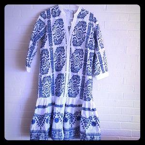 Zara embroidered dress size  XL NWT